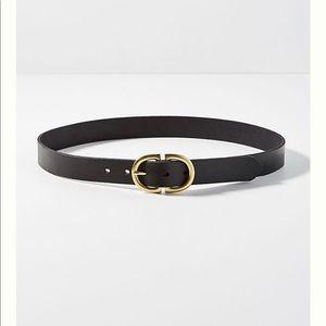 Anthropologie Gilded buckle belt